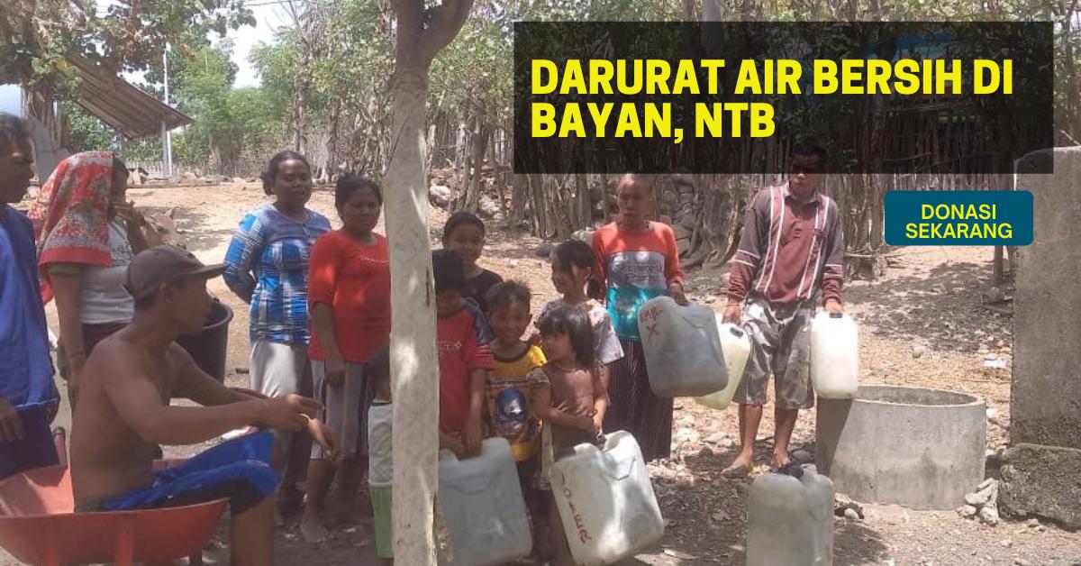 Bantu Dropping Air bersih untuk Warga Bayan, Lombok Utara